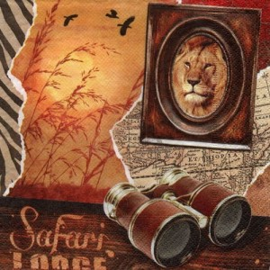 Serwetka do decoupage - safari 6015