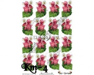 Papier do decoupage 210X305 - Art-Butique Km-4 1886