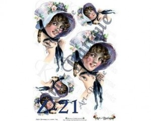 Papier do decoupage A3 210X305 - Art-Butique Z-21 1804