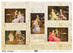 Papier do decoupage 350x500mm - TO-DO R002 1181