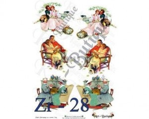 Papier do decoupage 210X305 - Art-Butique Zr-28 1475