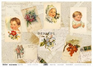 Papier do decoupage 350x500mm -TO-DO R001 1180